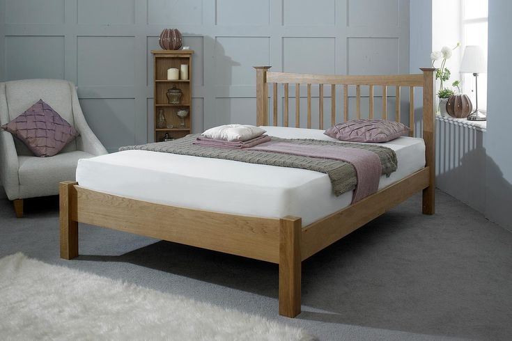 Sloane Solid Oak Bed Frame 4ft6 - Double | The Oak Bed Store