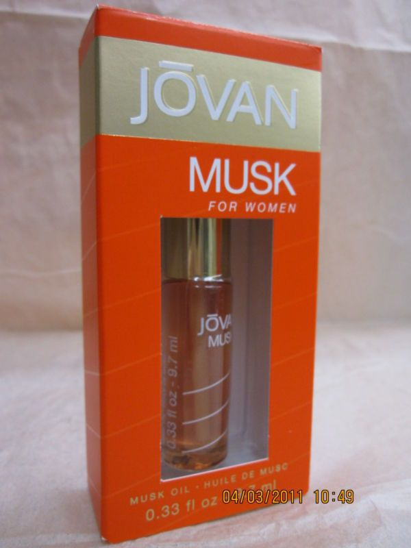 COTY JOVAN MUSK OIL FOR WOMEN 0.33 FL oz / 9.7 ML Musk Oil New In Box