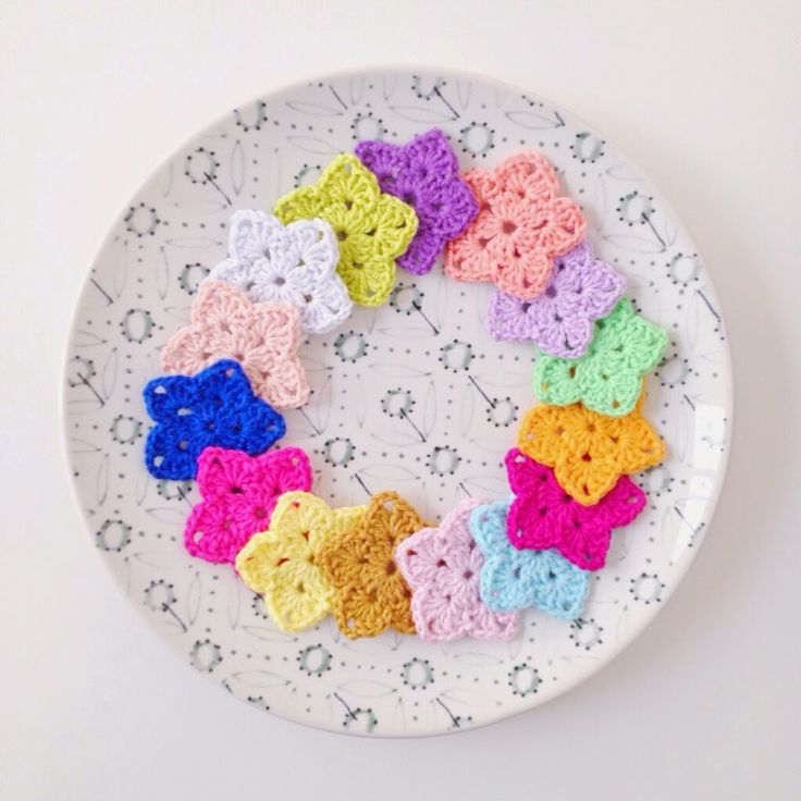 Granny Stars with link to free pattern