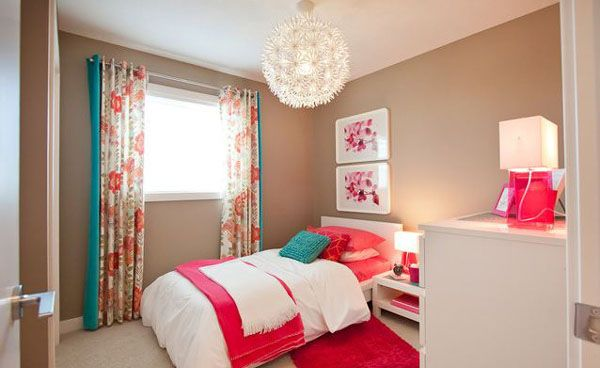 20 Bedroom Color Ideas: Beige And Pink Bedroom Design With Amazing Pendant Lamp ~ Myzestyliving.com