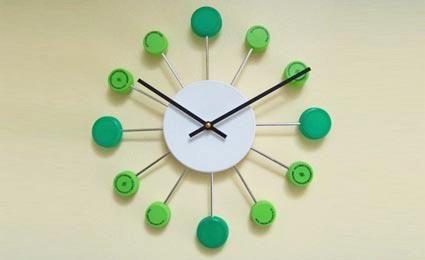 relógio de tampinha