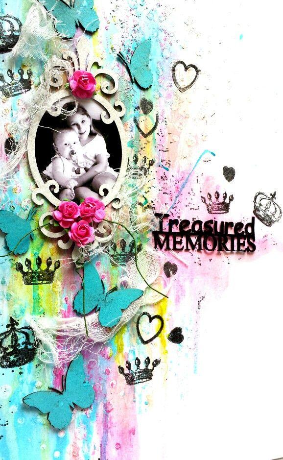Guest Designer for Paper Wings Productions: Scrapbook Saturday : Treasured Memories by Amanda Baldwin