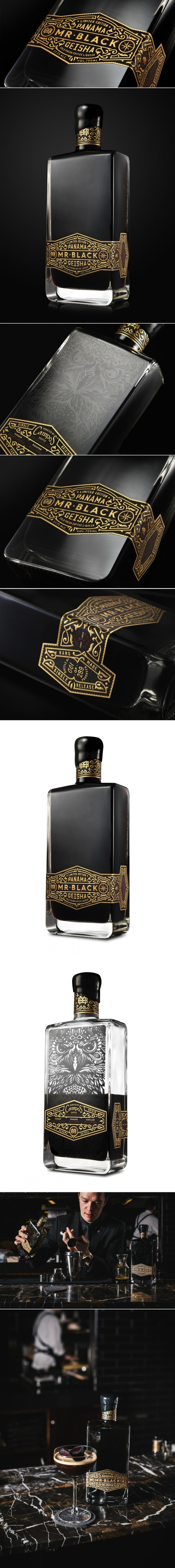 Mr. Black Panama Geisha — The Dieline - Branding & Packaging Design... - a grouped images picture - Pin Them All