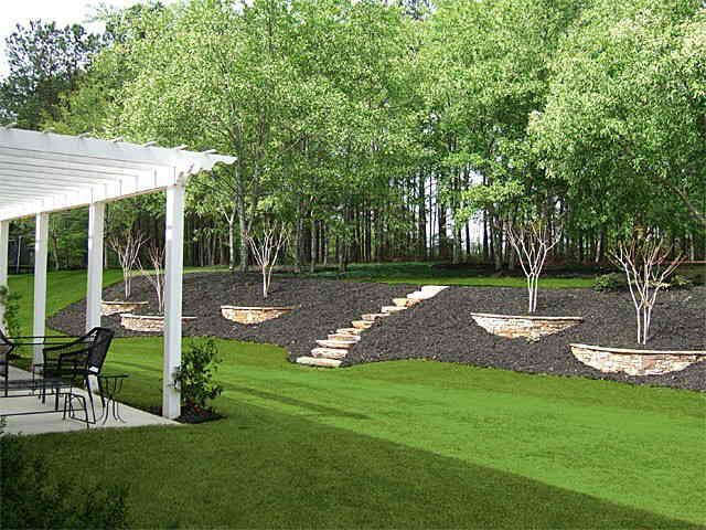 Landscape Ideas Maybe For Our Crazy Hills In The Back Yard Simplelandscapingideas Backyard Hill Landscaping Sloped Backyard Sloped Garden