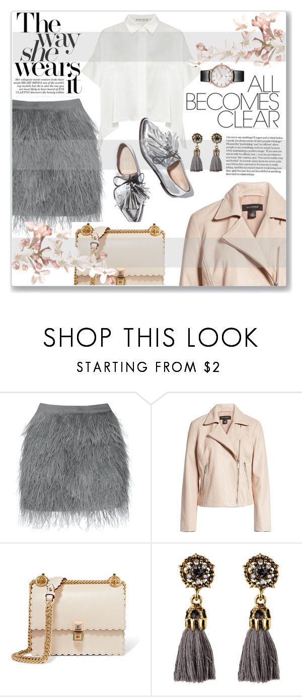 """""""The Way She Wears It: Happy Birthday, My Friend"""" by sonyastyle ❤ liked on Polyvore featuring Halogen, Fendi, casual, polyvoreeditorial and motojackets"""