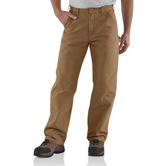 Carhartt Washed Duck Work Pants (For Men) in Dark Khaki