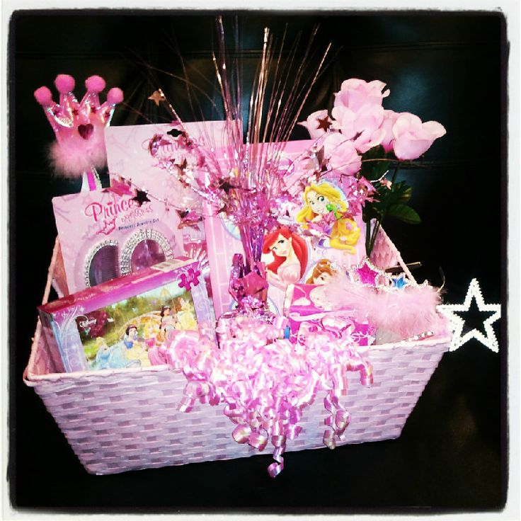 Little girls princess gift basket, perfect for my little sisters!