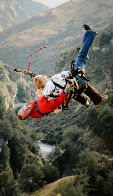 Tim and Mike I think we should make this a family vacation....Canyon Swing, Arrowtown Park, New Zealand.... What do you think, you game????  xoxoxo