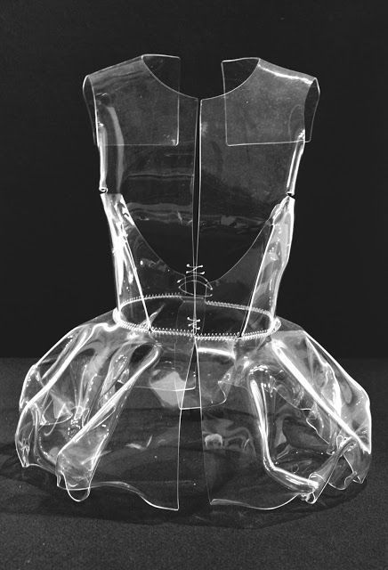 Clear Plastic Dress - fashion armour; transparency; sculptural fashion // Vaillo +Irigaray