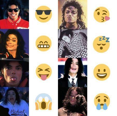 Cute Michael Jackson emojis