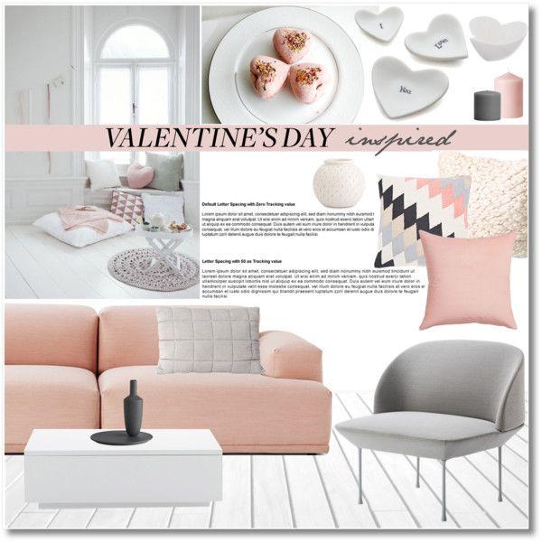 Valentine's day inspired interior by galina-gavrailova on Polyvore featuring interior, interiors, interior design, thuis, home decor, interior decorating, Muuto, Maxwell & Williams, CB2 and Crate and Barrel