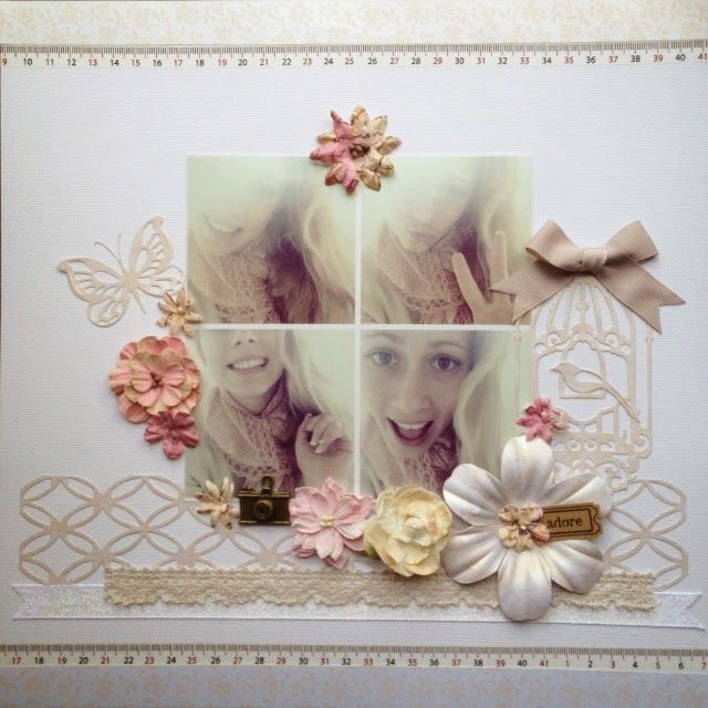 Couture Creations: Adore 2 layouts with Tina Connolly | #couturecreationsaus #scrapbooking #decorativedies #ornamentallacedies