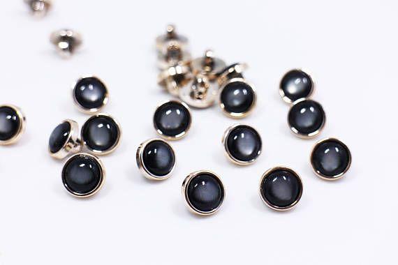 6135f353172 Black Shiny Shank Buttons Black Galaxy Sewing Buttons Black