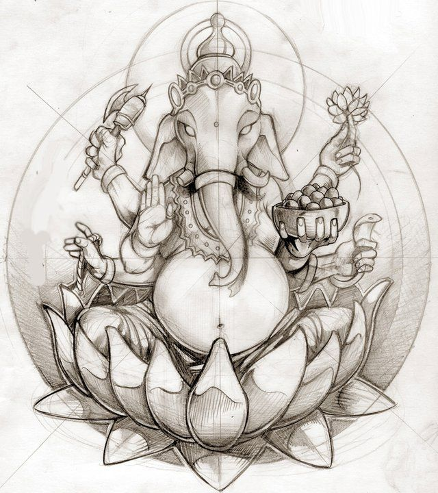 concept: Ganesh coming out of the lotus flower - Pinned by yogafleurdelotus.com