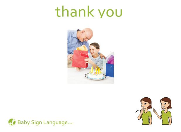 how to say no thank you in sign language