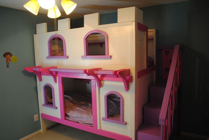 Woodwork bunk bed plans princess pdf plans for Castle bed plans pdf