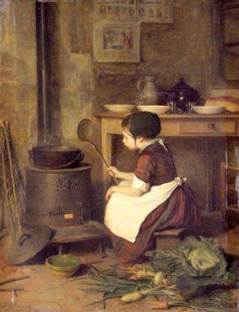 La Petite Cuisinière, Pierre Edouard Frère (1819-1886)
