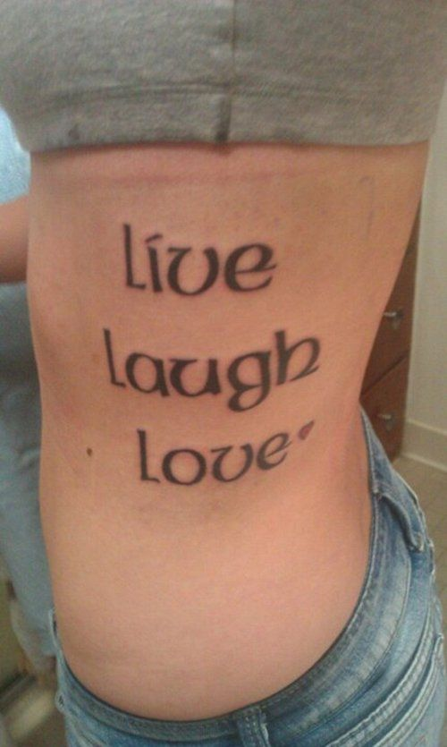 Like it in celtic font live laugh love live laugh for Live love laugh tattoo