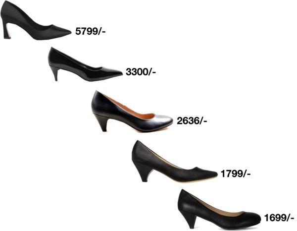 Black Low Heel Pumps