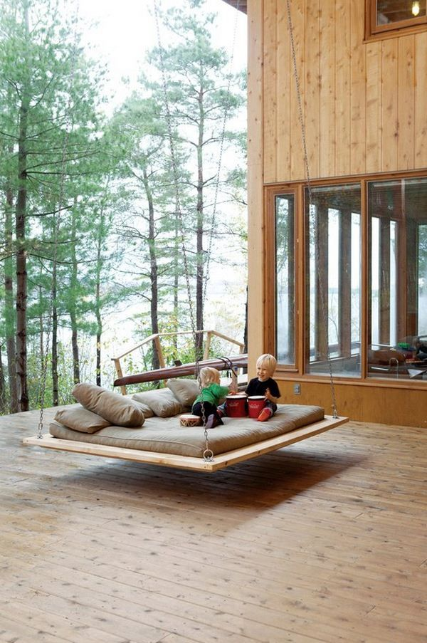 The kids will love this swing. And not just the kids! Imagine lying in the sun, sipping on a glass of Chardonnay, reading your favorite book or magazine while listening to some music. Heaven!