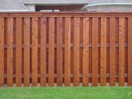 Shadow box fence photo