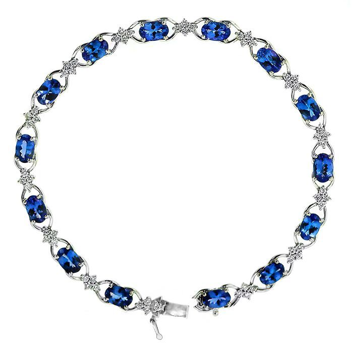 "Kilimanjaro Collection Tanzanite and Diamond Bracelet. In Adelaide Arcade.  Tanzanite is the latest ""must have"" gemstone for fashionista's worldwide. 1000 times Rarer than diamonds. This stunning gem is found only in one place in the world, a mine in Tanzania.   #tanzinite #bracelet #diamond #unique #oneoff #rare #jewellery #gerardmccabe #mccabediamonds"