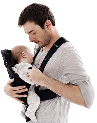 The BABYBJÖRN Baby Carrier Original provides comfort and security for newborns.