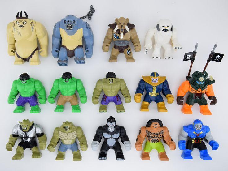 Jumbo Legos - The Goblin King, the Cave Troll LOTR, Mungus from LEGO Chima, The Wampa, all the Hulks, Thanos, Dogshank, Giant Green Goblin, Killer Croc, Gorilla Grodd, Maui