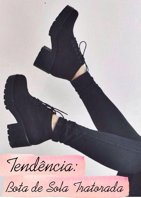 Bota de Sola Tratorada   Chunky Boots