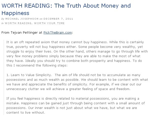 The Truth About Money and Happiness