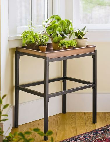 This Sturdy Plant Stand Powder Coated Steel Has A Waterproof Tray With Painted Faux Copper Finish To Accent Any Room And Its Sized Fit Our