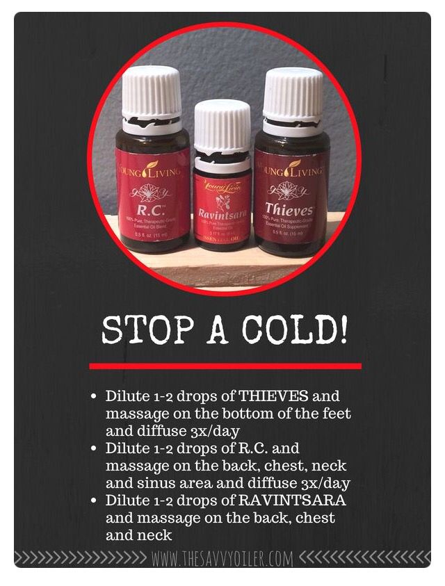 Oils and how to use them so combat a cold