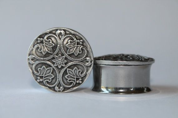 Silver Renaissance Style Plugs gauges 1 and by FromAHobosHandbag, $24.00