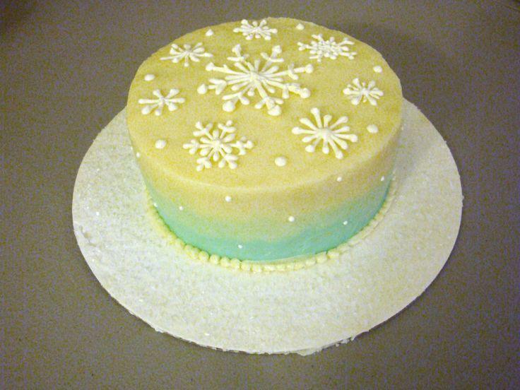 Winter Sky cake: vanilla cake with lemon curd filling and lemon swiss ...