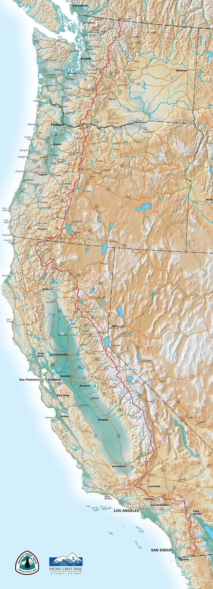 Pacific Crest Trail 159 best California Maps