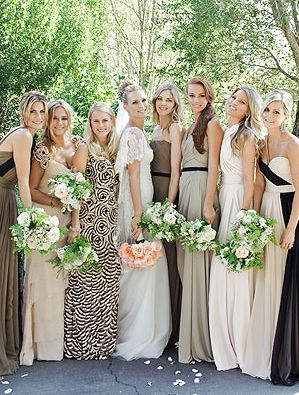 The Pumpkin Spot: Friday Feature: Multi-Colored Bridesmaid dresses