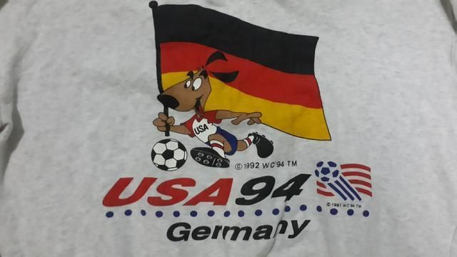 FIFA WORLD CUP USA 1994 MASCOT GERMANY TEAM GREY SWEATER SIZE M SPORT SOUVENIR