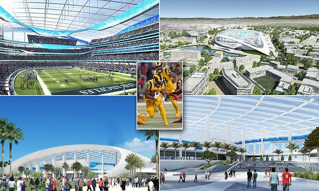 Welcome to NFL Disney World! First glimpse of St Louis Rams' LA arena #DailyMail | These are some of the stories. See the rest @ http://twodaysnewstand.weebly.com/mail-onlinecom or Video's @ http://www.dailymail.co.uk/video/index.html