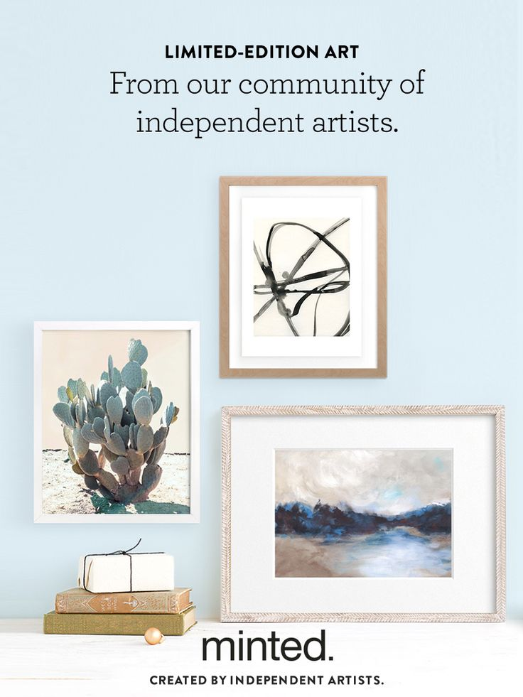 Style out your space with unique designs from the Minted community of independent artists. Find limited-edition art work to fill your home.
