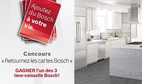 Je viens de m'inscrire au concours « Retourez les cartes Bosch »