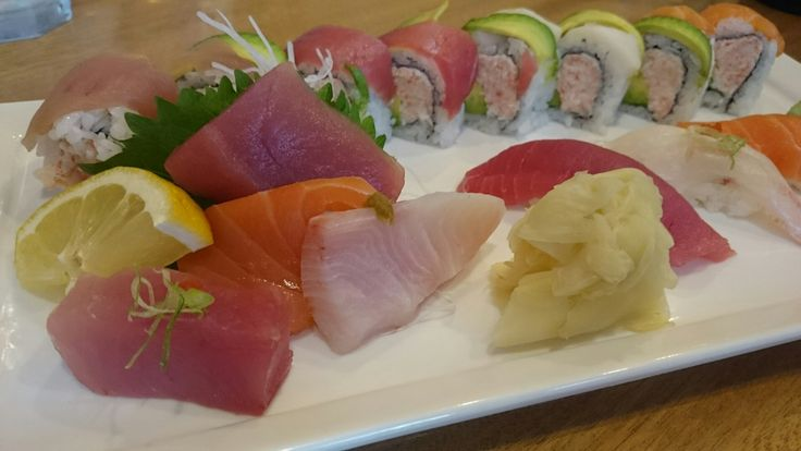 The hubby got the Rainbow Dinner at Oto Sushi...nothing special.