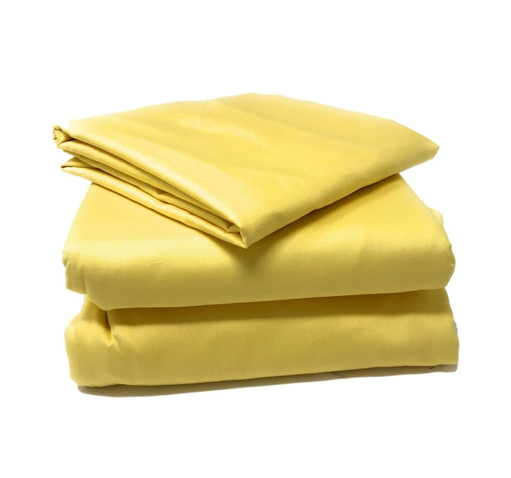 Tache 2-3 Piece Banana Yellow Bed Sheet Set (Fitted Sheet) (TABS3PC-YY)