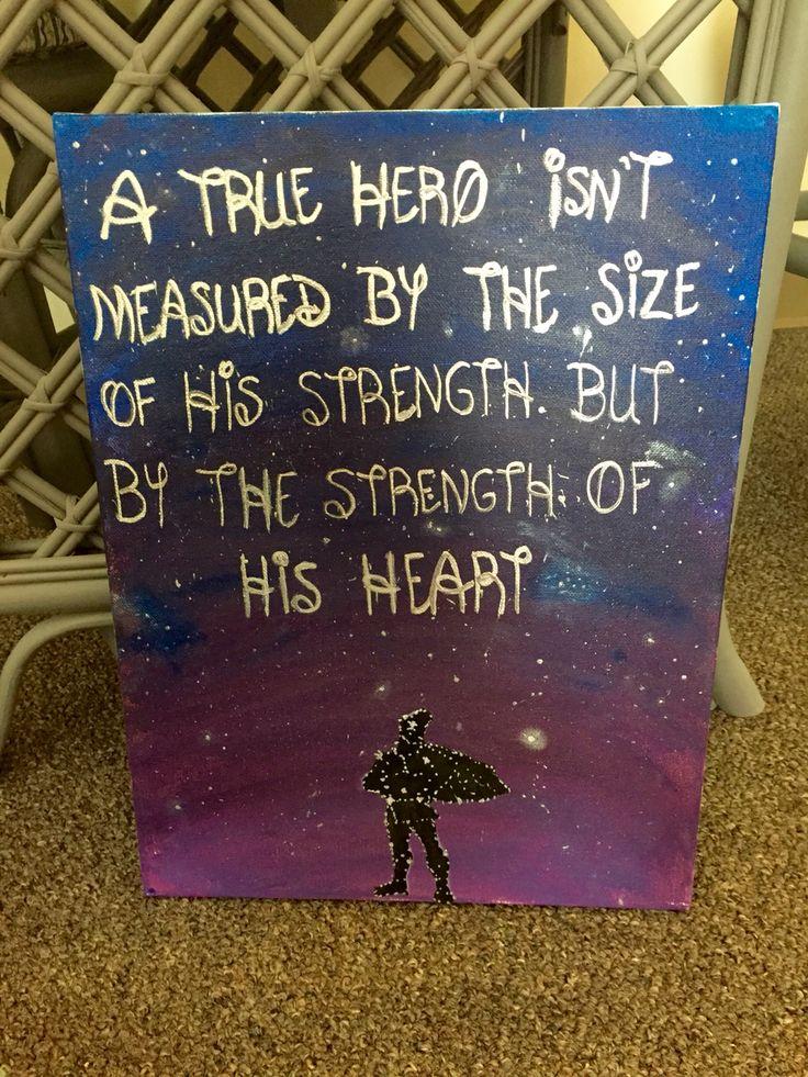 Hercules quote canvas