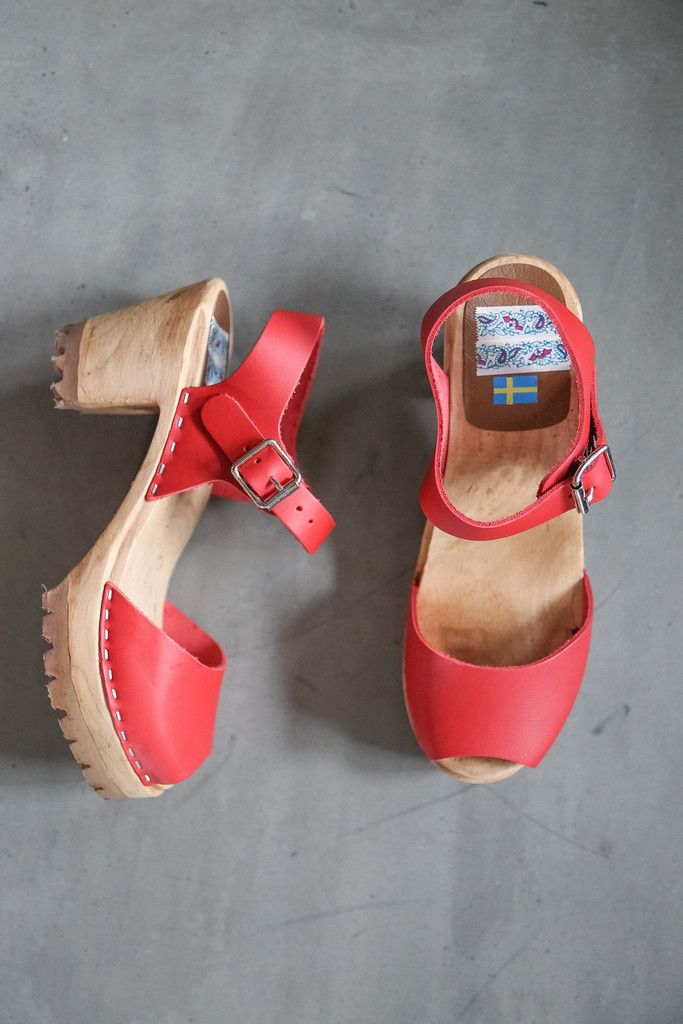 MIA: The Greta Clog in Red   The o'jays, Shoes and Platform