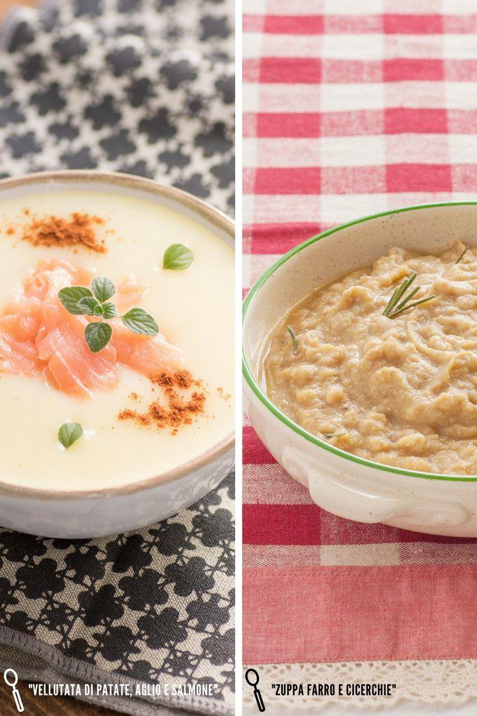 Minestre e zuppe d'inverno: solo due esempi di buonissime ricette oggi su theblackfig.com. #cucinaitaliana #italianfood #cooking #soup