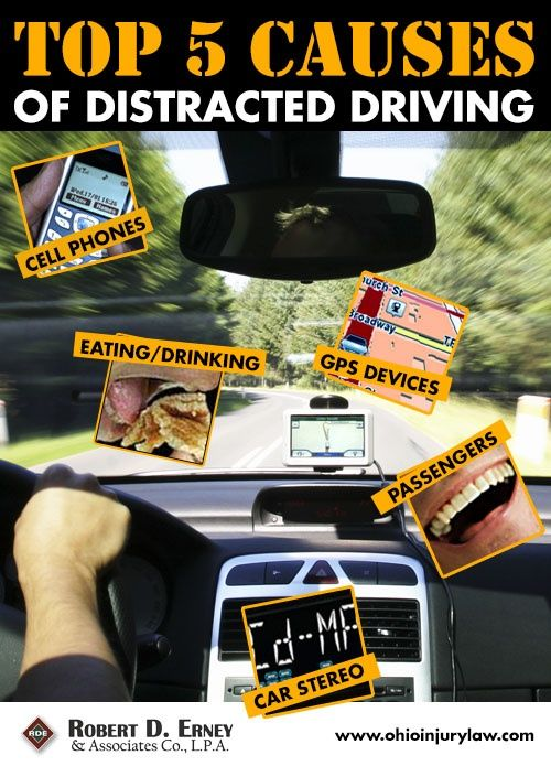 how to avoid being distracted while driving