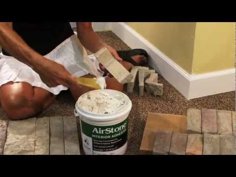 Brilliant!! AirStone is an easy to use DIY product to transform almost any wall into a beautiful stone wall! I am so going to cover my ugly brick fireplace with this!