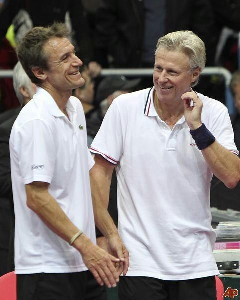 Björn Borg & Mats Wilander - Swedish dream team!