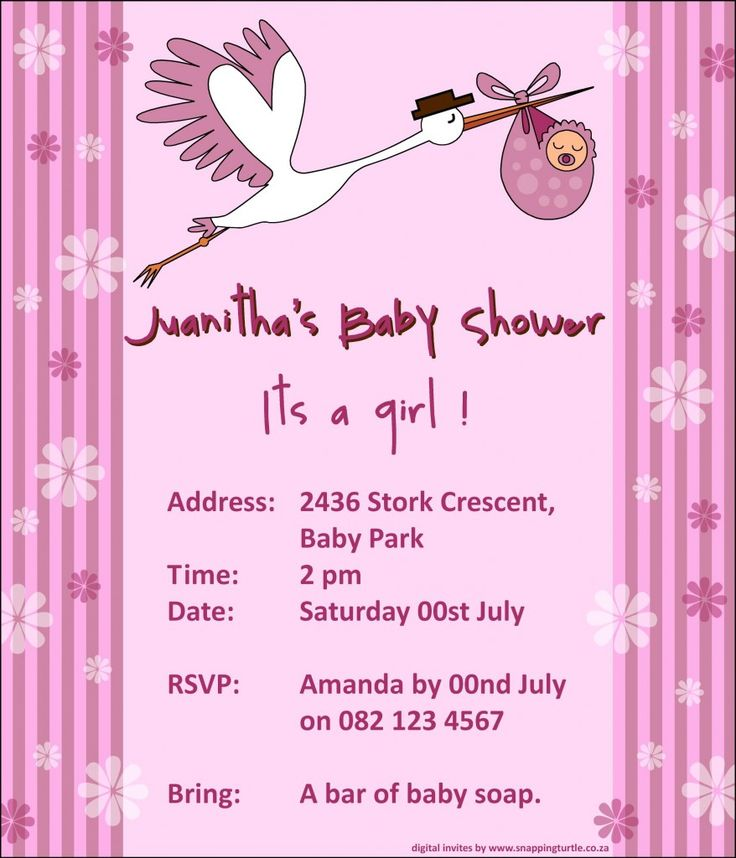 67 best Baby Shower images on Pinterest Petit fours, Baby girl - free baby shower invitation templates for word