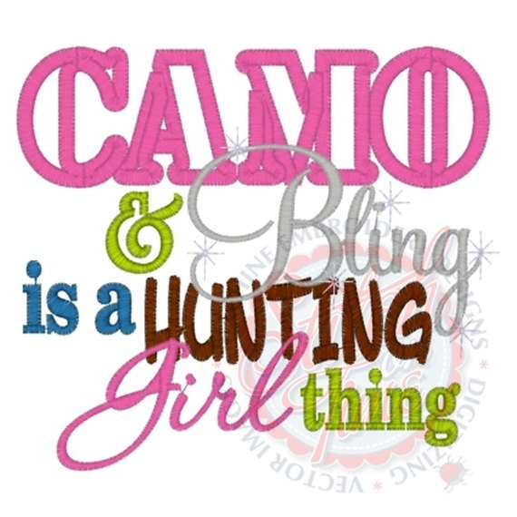 Camo and Bling is Hunting girl thing. $20.00, via Etsy.